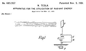 La grafica del brevetto Tesla #685.957