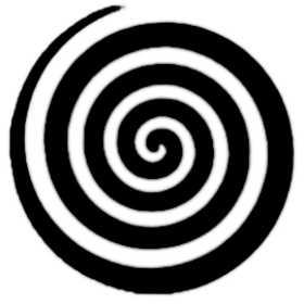 simbolo della spirale con rotazione a destra