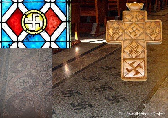 simbolo svastica chiese